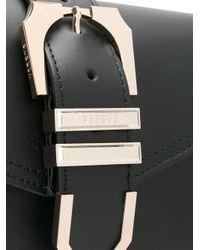 Versus  Black Iconic Buckle Bag