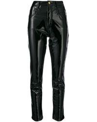 Chiara Ferragni Black Vinyl Skinny Trousers