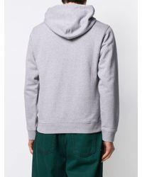 Sudadera con capucha y logo bordado KENZO de hombre de color Gray