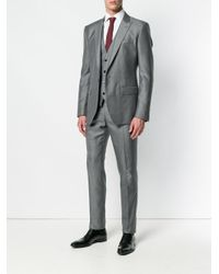 Dolce & Gabbana Gray Three Piece Suit for men