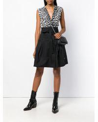 Givenchy Black Foldover Logo Shoulder Bag