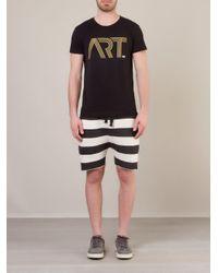 Osklen Black Striped Shorts for men