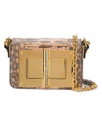 Lock Large In Twist Bag Ford Tom Shoulder Lyst Natural Yb67gvIfy