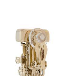 Lanvin - Metallic Embellished Chain Earrings - Lyst