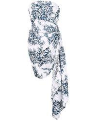 Oscar de la Renta White Minikleid mit Blumenmuster