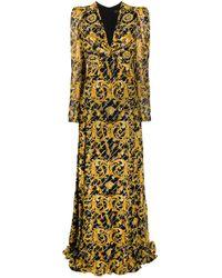 Versace バロッコ ロングドレス Multicolor