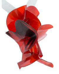 Marni - Red Acetate Floral Brooch - Lyst