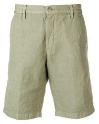 Massimo Alba Green Tailored Chino Shorts for men