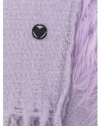 Charlotte Simone カットオフエッジ スカーフ Purple