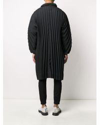 メンズ Homme Plissé Issey Miyake プリーツ フーデッドコート Black