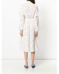 Valentino - White Polka Dot Dress - Lyst