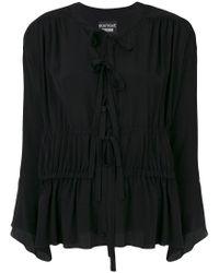 Boutique Moschino - Black Blusa Svasata Con Nappina - Lyst