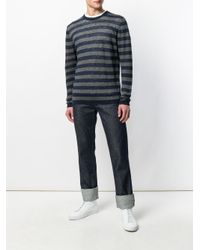 Woolrich Blue Striped Long-sleeve Sweater for men
