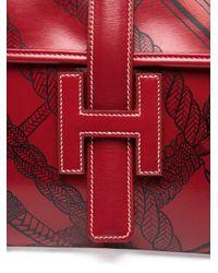 Кастомизированный Клатч Jige Pre-owned Hermès, цвет: Red