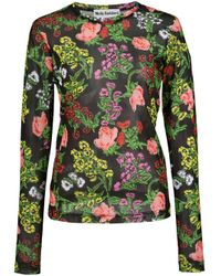Top a fiori di Molly Goddard in Black