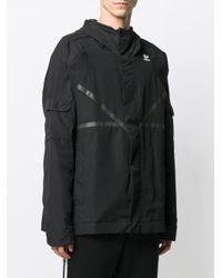 メンズ Adidas フーデッドジャケット Black