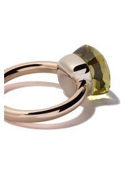 Pomellato - Multicolor 18kt Rose & White Gold Medium Nudo Lemon Quartz Ring - Lyst