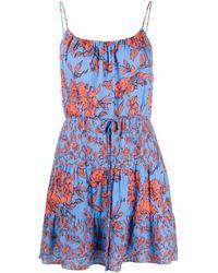 Alice + Olivia Cheyla ストラップ フローラル ドレス Blue