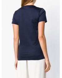 T-shirt à patch logo Moncler en coloris Blue