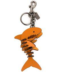 COACH - Brown Shark Keyring - Lyst