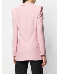 HEBE STUDIO Pink Double-breasted Fitted Blazer