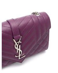 Bolso de hombro Cassandra Saint Laurent de color Purple