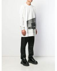 Rick Owens Oversized-Langarmshirt in White für Herren