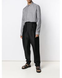 Haider Ackermann Black Houndstooth Print Shirt for men