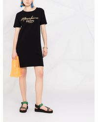 Moschino ロゴ Tシャツワンピース Black