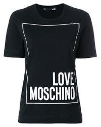 Love Moschino - Black Printed T-shirt - Lyst