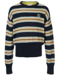 メンズ Wooyoungmi ストライプ セーター Blue