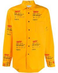 Off-White c/o Virgil Abloh Yellow Industrial Print Shirt for men