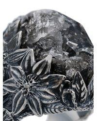 Lyly Erlandsson 'Winter Plat Leaf' Silberring in Metallic für Herren