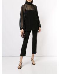 Blusa translúcida con cuello alzado Camilla & Marc de color Black