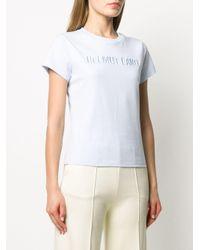 Helmut Lang ロゴ Tシャツ Blue