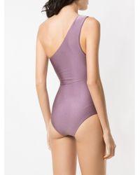 Купальник На Одно Плечо С Вырезными Деталями Adriana Degreas, цвет: Purple