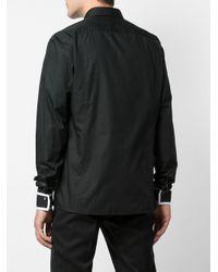 Camisa con ribete de rayas Balmain de hombre de color Black