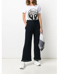 Pantalones de chándal de canalé MM6 by Maison Martin Margiela de color Blue