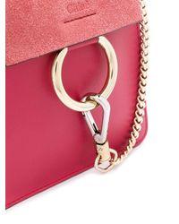 Bolso Faye pequeño con pulsera Chloé de color Pink