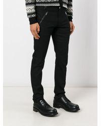 Alexander McQueen Black Leather Patch Pocket Jeans for men