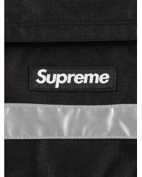 メンズ Supreme ロゴ メッセンジャーバッグ Black
