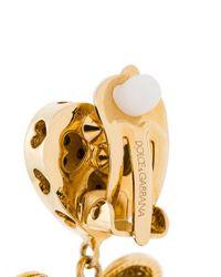 Dolce & Gabbana ハートチャーム イヤリング Metallic