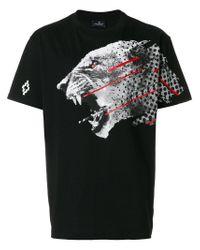 Marcelo Burlon Black Sham T-shirt for men