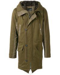 Yves Salomon Green Hooded Parka Coat for men