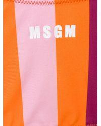 MSGM ストライプ ビキニ Orange