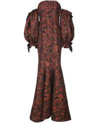 Zac Zac Posen Red Fitted A-line Dress