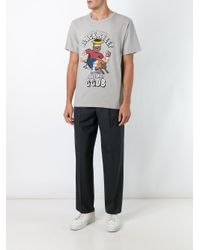 Golden Goose Deluxe Brand Gray Black Sheep Print T-shirt for men