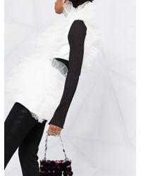 Loulou チュールラッフル ジャケット White
