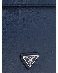 Pochette à fermeture boutonnée Prada pour homme en coloris Blue