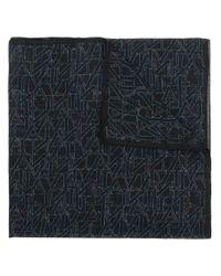 Lanvin ロゴスカーフ Blue